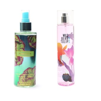 Queen's Secret Pearl Glace Body Mist for Women 250ml with Queen's Secret Wild Berry Tulips Fine Fragrance Mist for Women 236ml Bundle