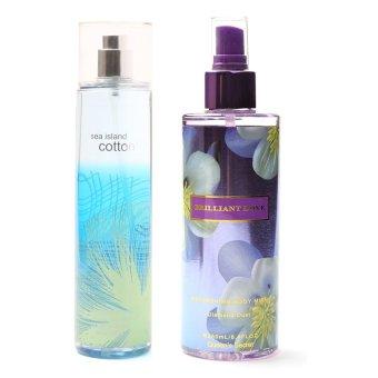 Queen's Secret Sea Island Cotton Fine Fragrance Mist 236ml with Queen's Secret Brilliant Love Body Mist for Women 250ml Bundle