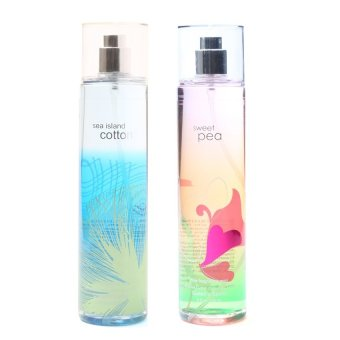 Queen's Secret Sea Island Cotton Fine Fragrance Mist 236ml with Queen's Secret Sweet Pea Fine Fragrance Mist for Women 236ml Bundle