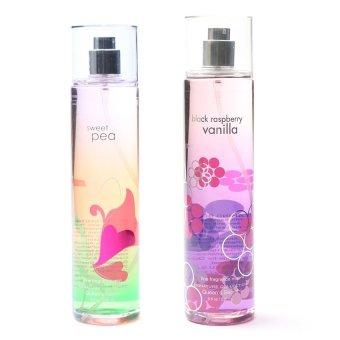 Queen's Secret Sweet Pea Fine Fragrance Mist for Women 236ml with Queen's Secret Black Raspberry Vanilla Fine Fragrance Mist for Women 236ml Bundle