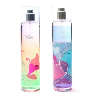 Queen's Secret Sweet Pea Fine Fragrance Mist for Women 236ml with Queen's Secret Love Fine Fragrance Mist for Women 236ml Bundle