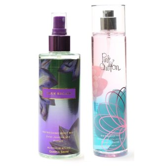 Queen's Secret True Escape Body Mist for Women 250ml with Queen's Secret Pink Chiffon Fine Fragrance Mist for Women 236ml Bundle