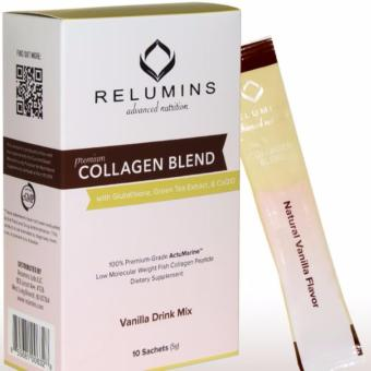 RELUMINS PREMIUM COLLAGEN BLEND - WITH GLUTATHIONE, GREEN TEAEXTRACT AND COQ10 - VANILLA FLAVOR
