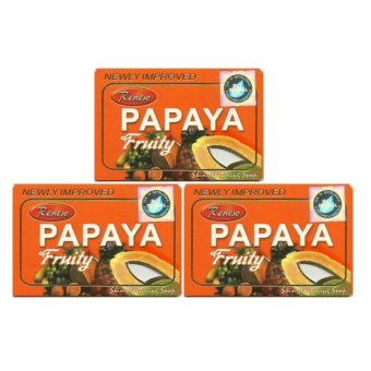 Renew Papaya Fruity Soap 135g Set of 3