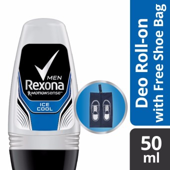 REXONA MEN DEODORANT ROLL-ON ICE COOL 50ML WITH FREE SHOE BAG