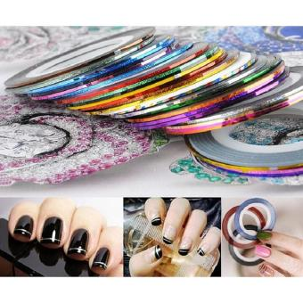 Rolls nail diy strip tape nail art decoration line stickers intl rolls nail diy strip tape nail art decoration line stickers intl prinsesfo Choice Image