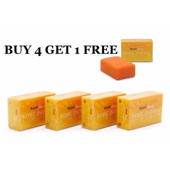 ROYALE KOJIC PAPAYA SOAP 130g set of 4 plus FREE 1 Price Philippines