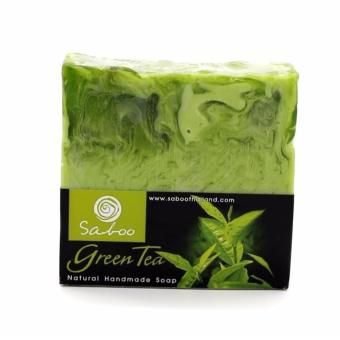 (SABOO) GREEN TEA soap-Rejuvenates your skin.Leaving it smooth andrefreshing.