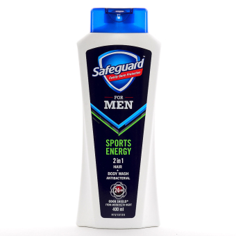 Safeguard Men Sports Energy 2 in 1 Hair + Bodywash 400ml Price Philippines