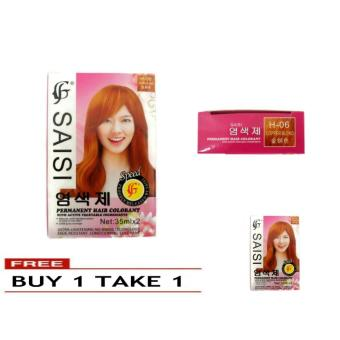 SAISI Permanent Hair Color with Active Vegetable Ingredient (H-06copper blonde) 127g