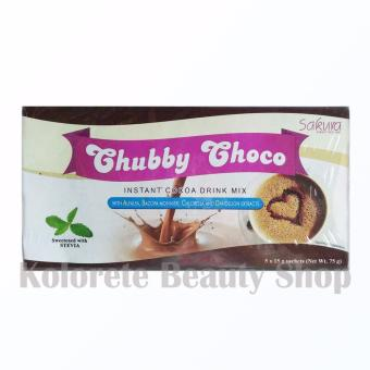 Sakura Chubby Choco Instant Cocoa Drink Mix for Weight Gain Box of5 sachets