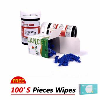 Sannuo yizhun Blood Glucose monitor 100pcs Test Strips And 100 Needles And Free 100 Alcohol Swabs (no monitor)- intl