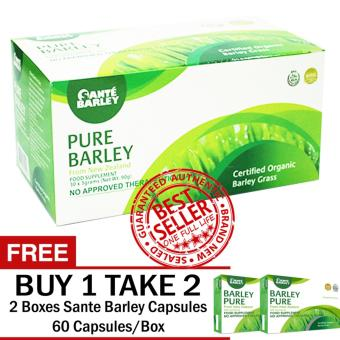 SANTE PURE BARLEY POWDER 30 SACHETS WITH FREE 2 BOXES SANTECAPSULES 60 CAPSULES/BOX Price Philippines