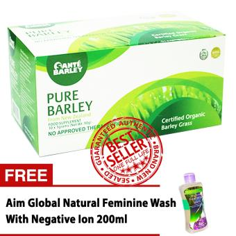 Sante Pure Barley Powder Juice 3 grams Box of 30 with FREE FeminineWash with Negative Ion 200ml Price Philippines