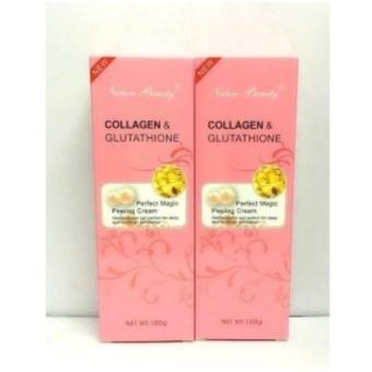 Set of 2 Nature Beauty Collagen and Glutathione Peeling CreamWhitening