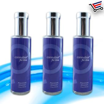 Sex Perfume fragrance for Him connubial attractant Pheromone Set of 3 (Blue)