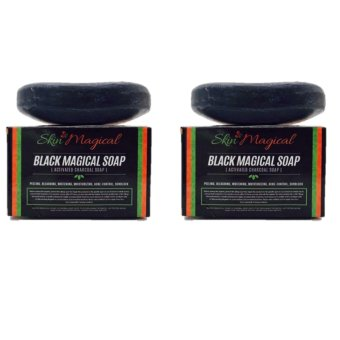 Skin Magical Black Magical Soap (Activated Charcoal Soap) SET of 2