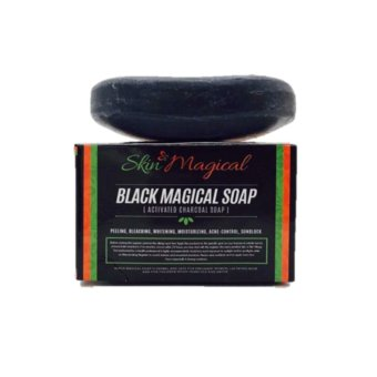 Skin Magical Black Magical Soap (Activated Charcoal Soap) with FREEPilaten Black Head Remover Pore Strip Price Philippines