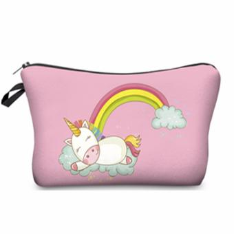 Sleeping Unicorn Under the Rainbow Cosmetic MakeUp Case or Bag