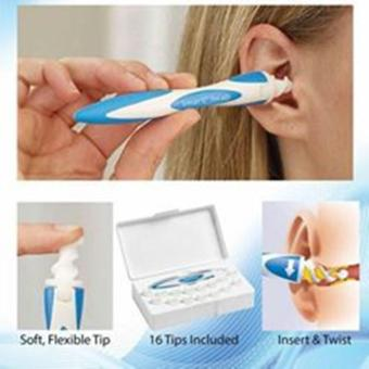 Smart Swab Ear Cleaner Easy Earwax Removal Spiral with 16 SoftReplacement Heads