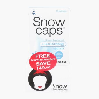 Snow Caps Supplement and Snow Skin Whitening Soap Set Price Philippines