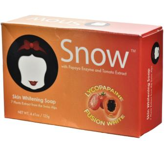 Snow-White Skin Whitening Soap with LYCOPAPAINE FUSION WHITE and 7plants Extract from Swiss Alps for moisturising, anti-aging,melasma 125g bar soap by Snow-caps