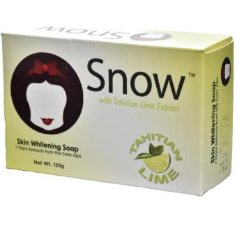 Snow-White Skin Whitening Soap with TAHITIAN LIME EXTRACT and 7plants Extract from Swiss Alps for moisturising, anti-aging,melasma 125g bar soap by Snow-caps