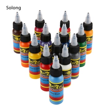 Solong 30ML / Bottle 14 Colors Tattoo Ink Fast Pigment Kit - intl