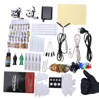 Solong Complete Tattoo Kit 10 Wrap Coils Guns Machine Power Supply- AU PLUG (Silver) - intl Price Philippines