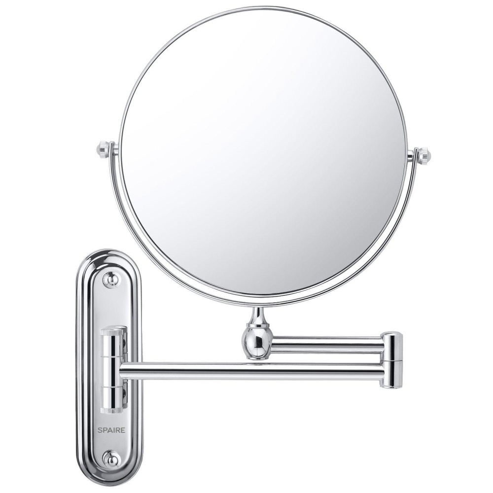 Spaire Bathroom Mirror Magnification Double Sided 8 Inch Wall Mounted  Vanity Magnifying Mirror Swivel, Extendable And ...