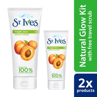 St. Ives Fresh Skin Face Scrub 6oz With Free Travel-Size Scrub