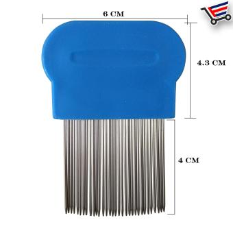 Stainless Steel Lice Terminator Hair Comb Brushes Magic Suyod(Blue) Set of 3 - 2