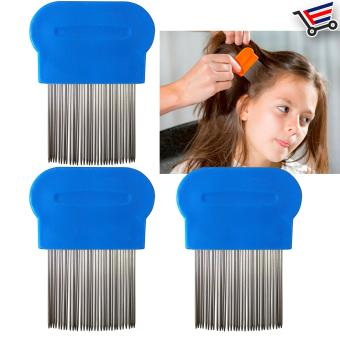 Stainless Steel Lice Terminator Hair Comb Brushes Magic Suyod(Blue) Set of 3