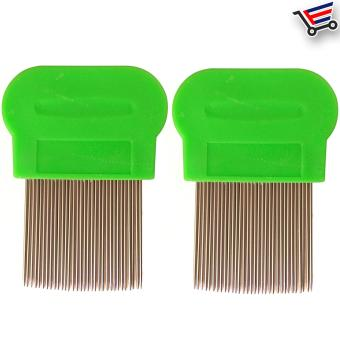 Stainless Steel Lice Terminator Hair Comb Brushes Magic Suyod(Green) Set of 2