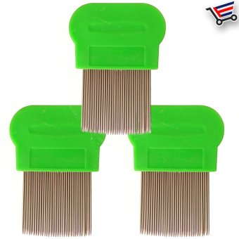 Stainless Steel Lice Terminator Hair Comb Brushes Magic Suyod(Green) Set of 3