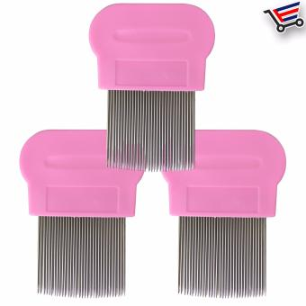 Stainless Steel Lice Terminator Hair Comb Brushes Magic Suyod(Pink) Set of 3