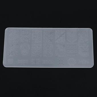 Stamping Plate Nail Art Image Stamper Lace Flower Printing StencilManicure Template (2#) - intl