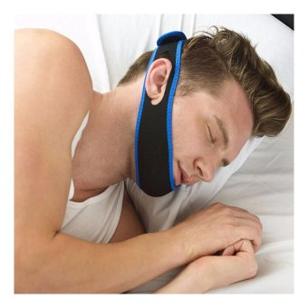 Stop Snoring MouthPiece Sleep Apnea Night Guard TMJ + Anti Snore Chin Strap Belt - intl - 3