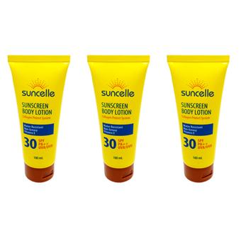 Suncelle Sunscreen Body Lotion Set of 3