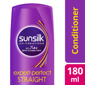 SUNSILK HAIR CONDITIONER EXPERT-PERFECT STRAIGHT 180ML