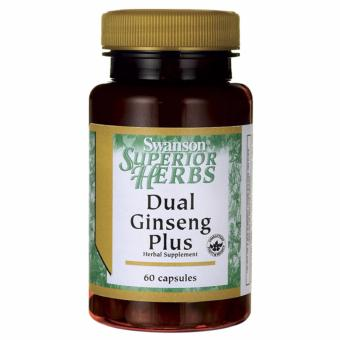 Swanson Superior Herbs Dual Ginseng Plus, 60 Capsules