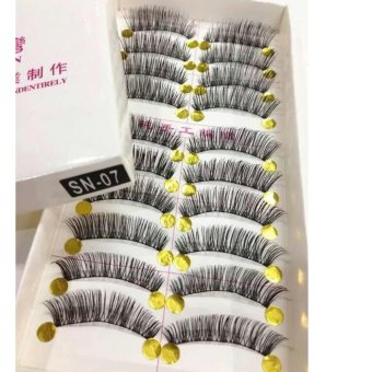 Taiwan Natural Black Long False Eyelashes (10 Pairs) - SN07