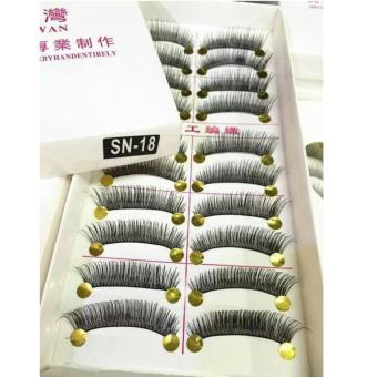 Taiwan Natural Black Long False Eyelashes (10 Pairs) - SN18