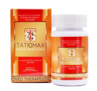 Tatiomax Reduced Glutathione + Sodium Ascorbate + Collagen 1600mg Bottle of 30