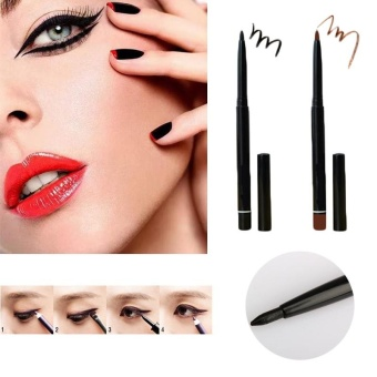 Tattoo Eye Liner Eyeliner Eyebrow Pen Pencil Makeup Cosmetic Tool Brown Black - intl