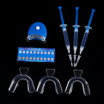 Teeth Whitening LED Light Whitener Bleaching Gel Dental Trays Oral Care Set - intl
