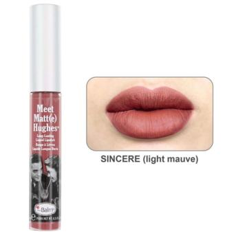 The Balm Meet Matt(e) Hughes Liquid Lipstick (Sincere) 7.4 ml (light mauve)