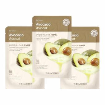 THE FACE SHOP Avocado Face Mask (5pcs) From Korea