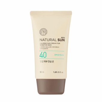 THE FACE SHOP Natural Sun Eco Calming Sun Cream For Sensitive SkinFrom Korea