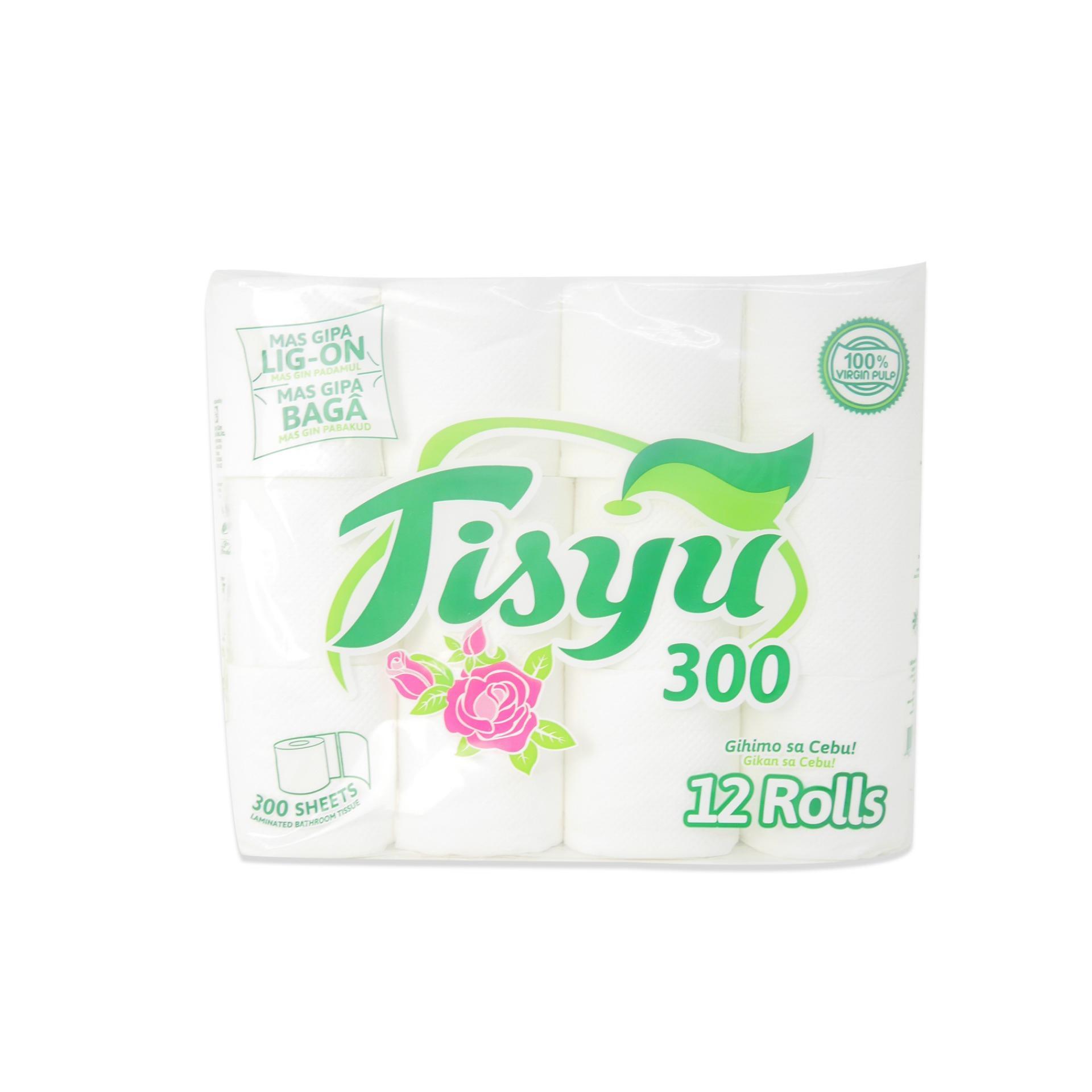 Tisyu 300 Sheets Laminated Bathroom Tissue (12 Rolls) 160770 w45 Philippines